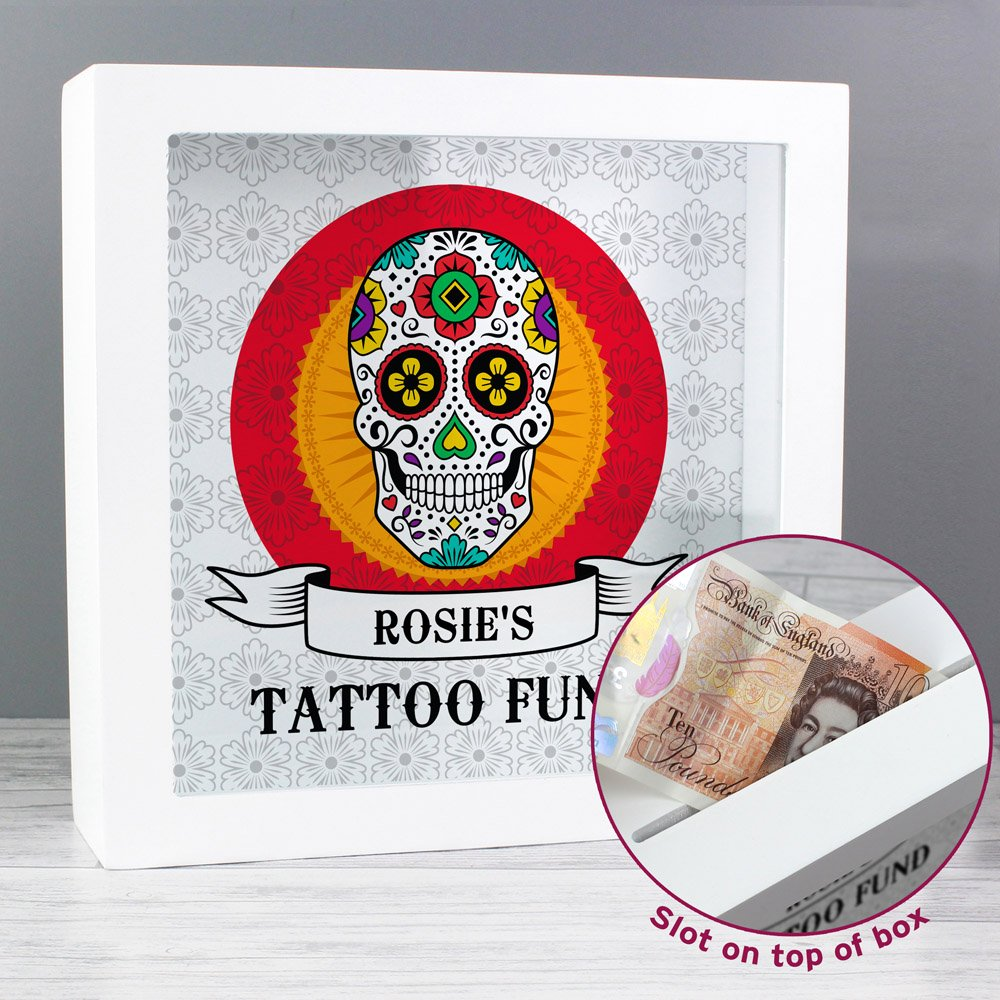 Sugar Skull Tattoo Fund and Keepsake Box