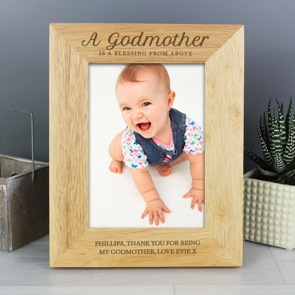 Godmother 7x5 Wooden Photo Frame