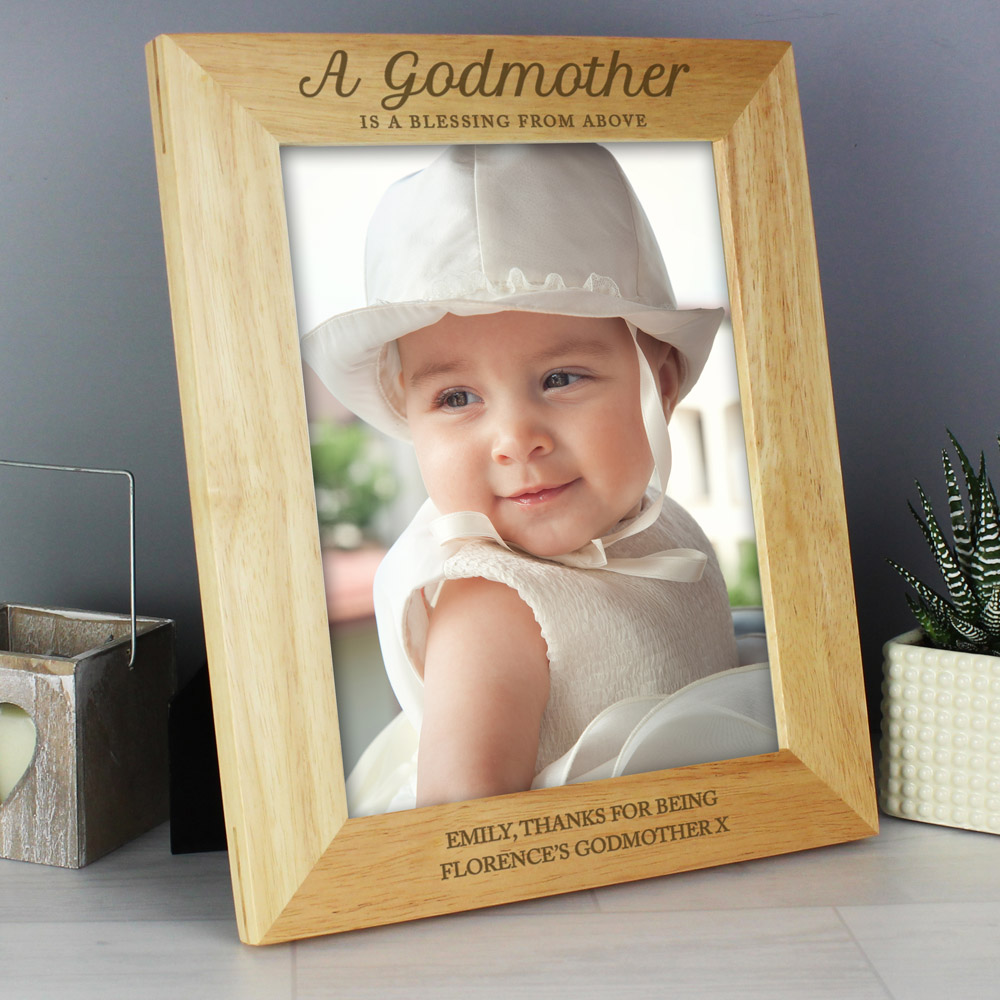 Godmother 10x8 Wooden Photo Frame