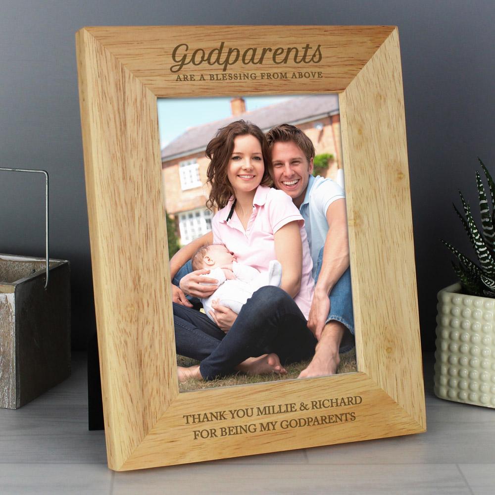 Godparents 7x5 Wooden Photo Frame