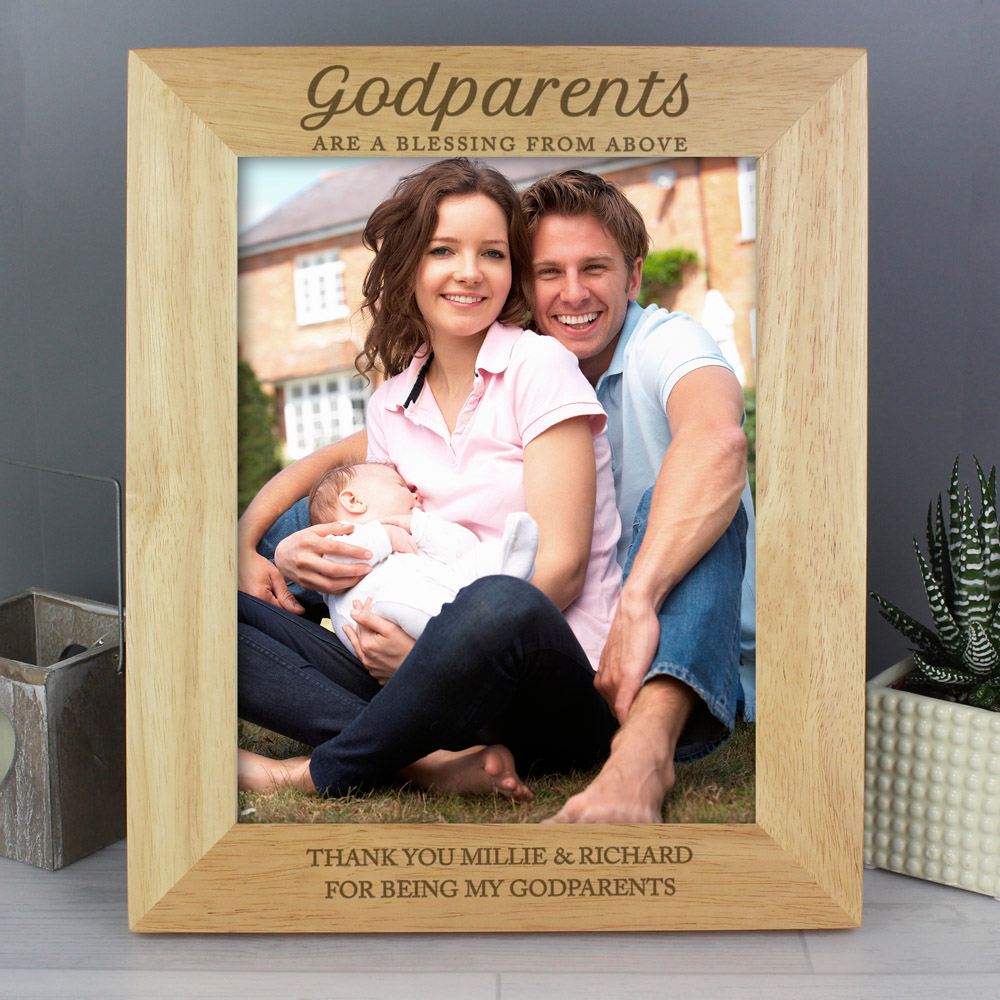 Godparents 10x8 Wooden Photo Frame