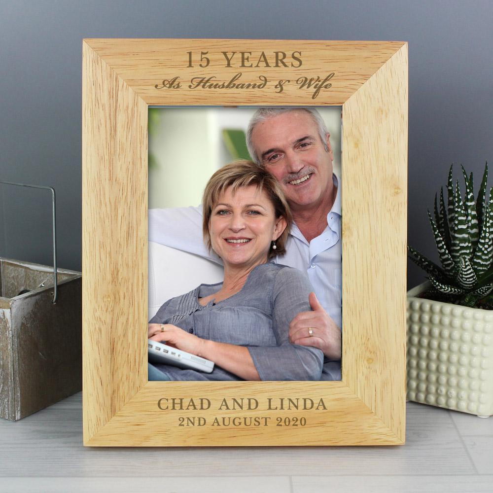 Anniversary 7x5 Wooden Photo Frame