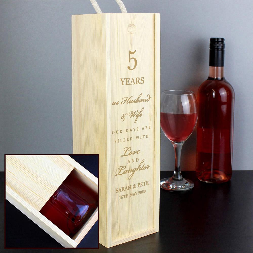 Anniversary Bottle Presentation Box