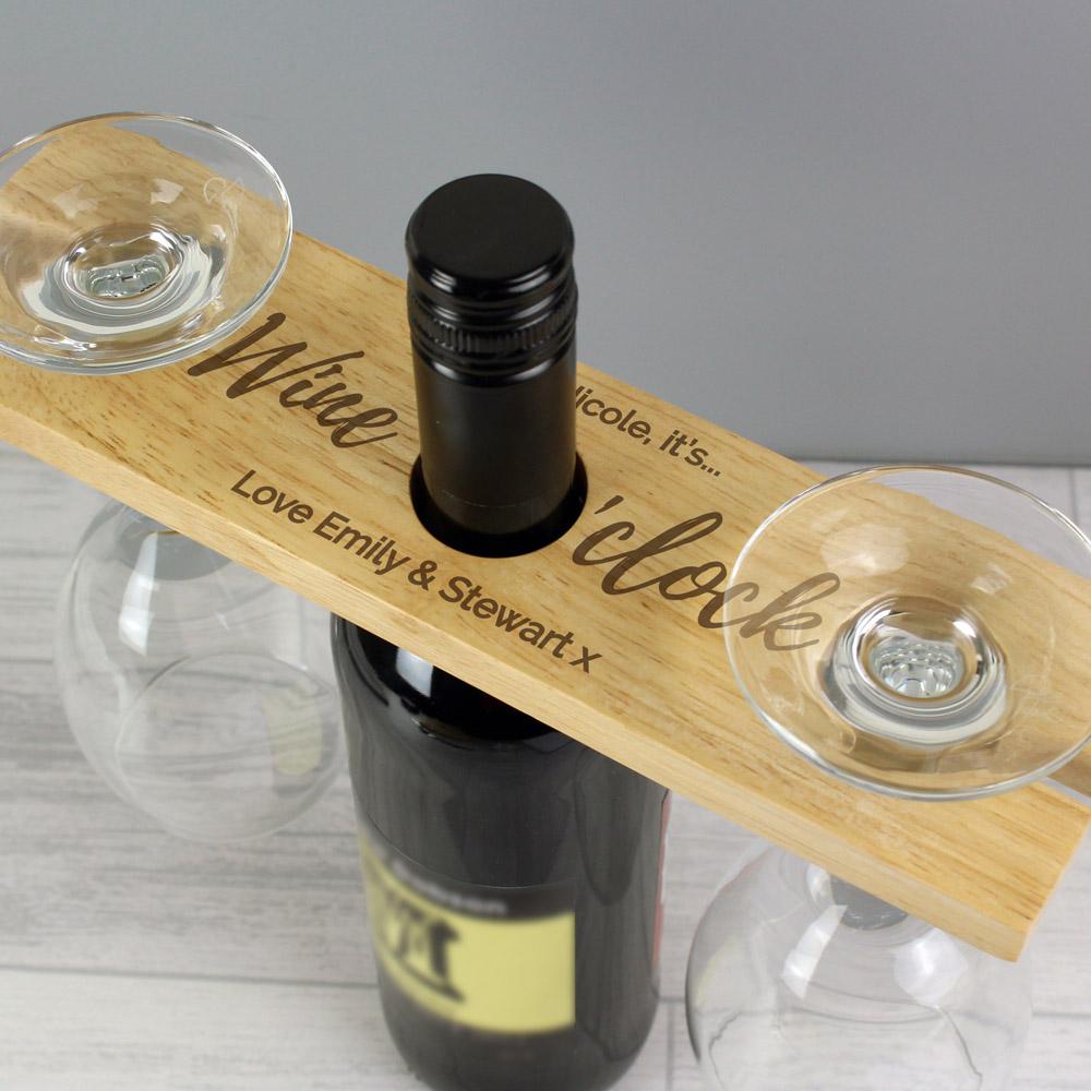Wine O'clock' Wine Glass & Bottle Butler