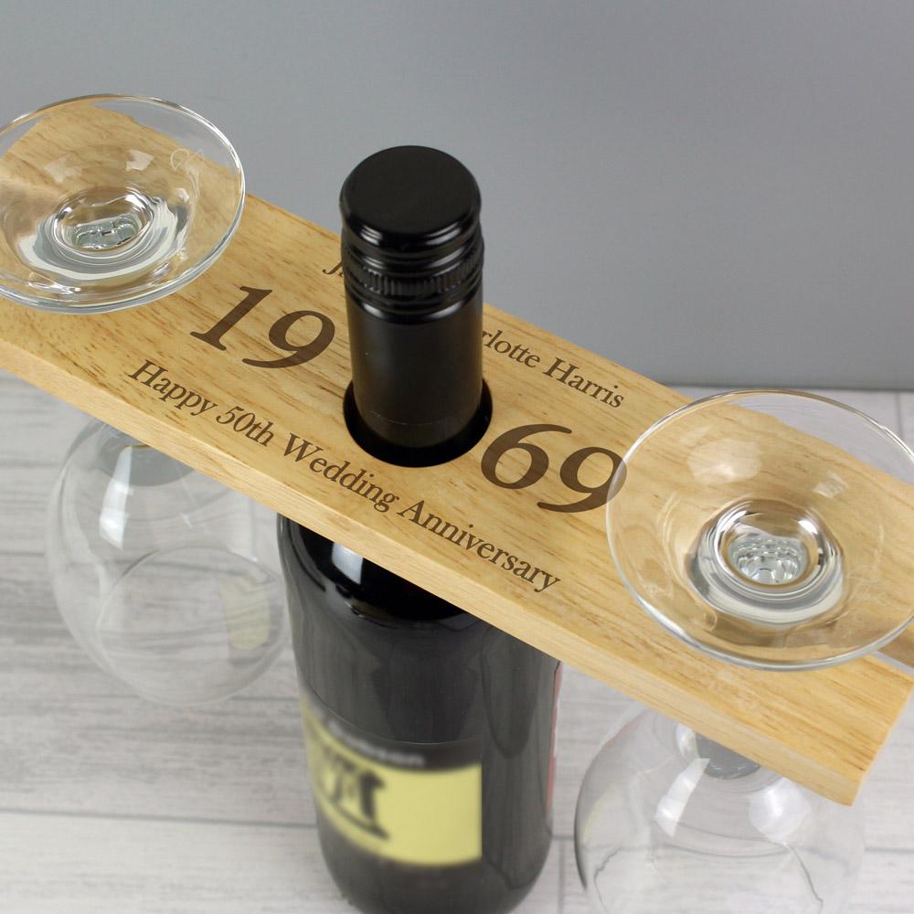 Year' Wine Glass & Bottle Butler