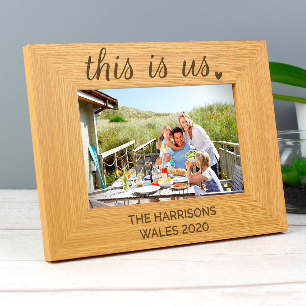 This Is Us' 6x4 Landscape Wooden Photo Frame