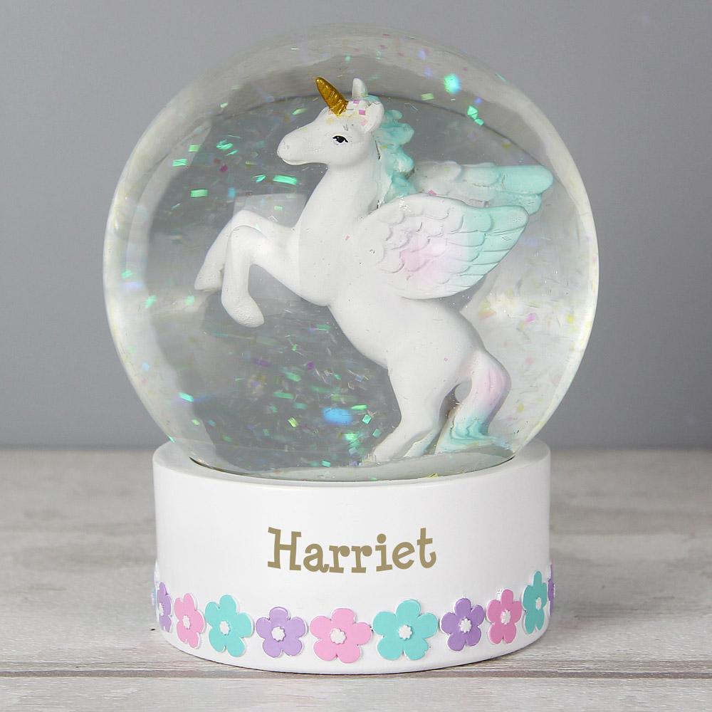 Unicorn Name Snow Globe