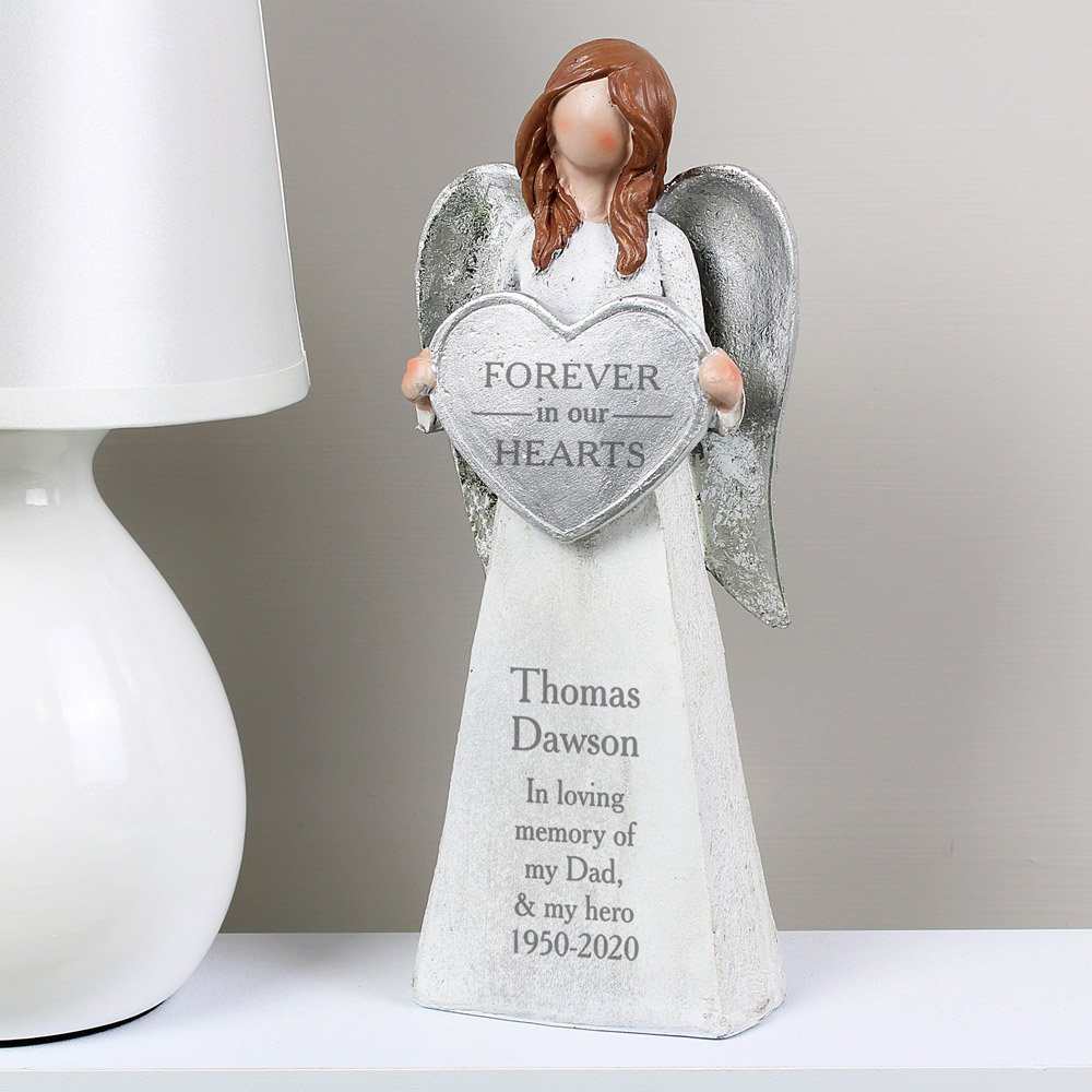 Forever In Our Hearts Memorial Angel Ornament