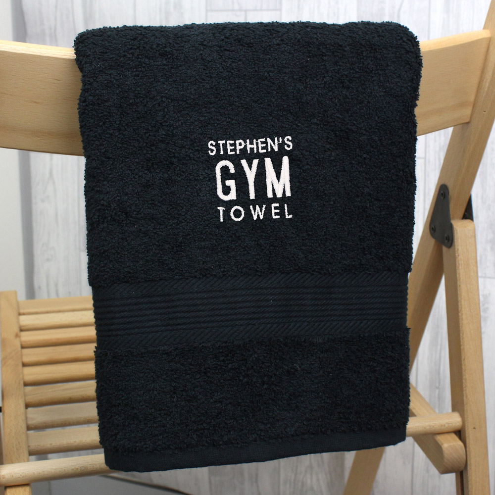 Gym Black Hand Towel