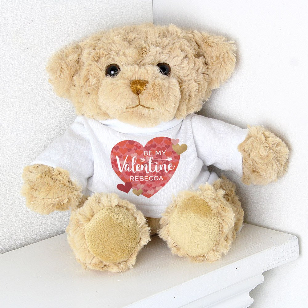 Valentine's Day Confetti Hearts Teddy