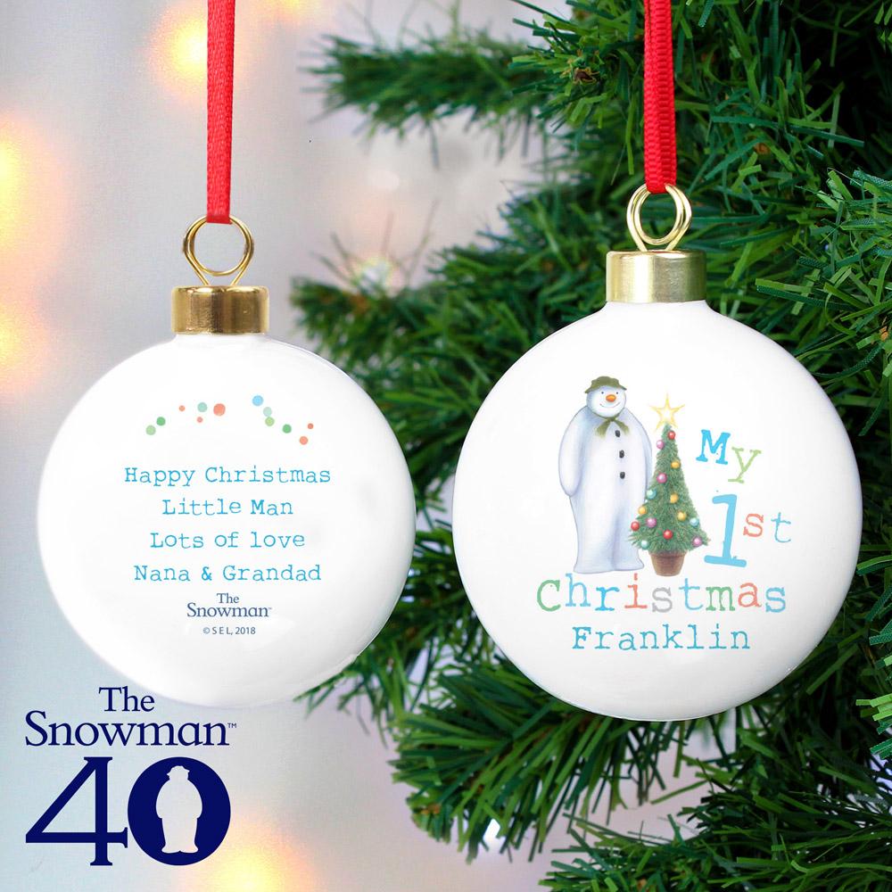 The Snowman My 1st Christmas Bauble