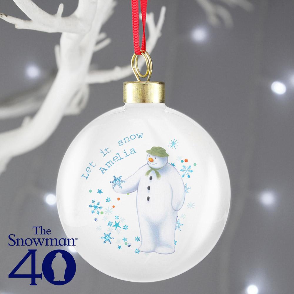 The Snowman Let it Snow Bauble