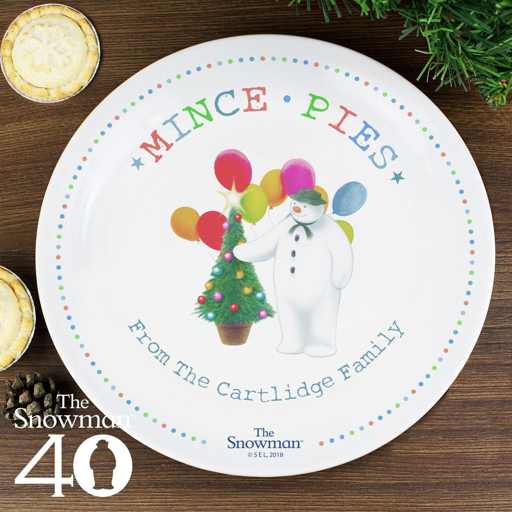 The Snowman Festive Fun Mince Pie Plate