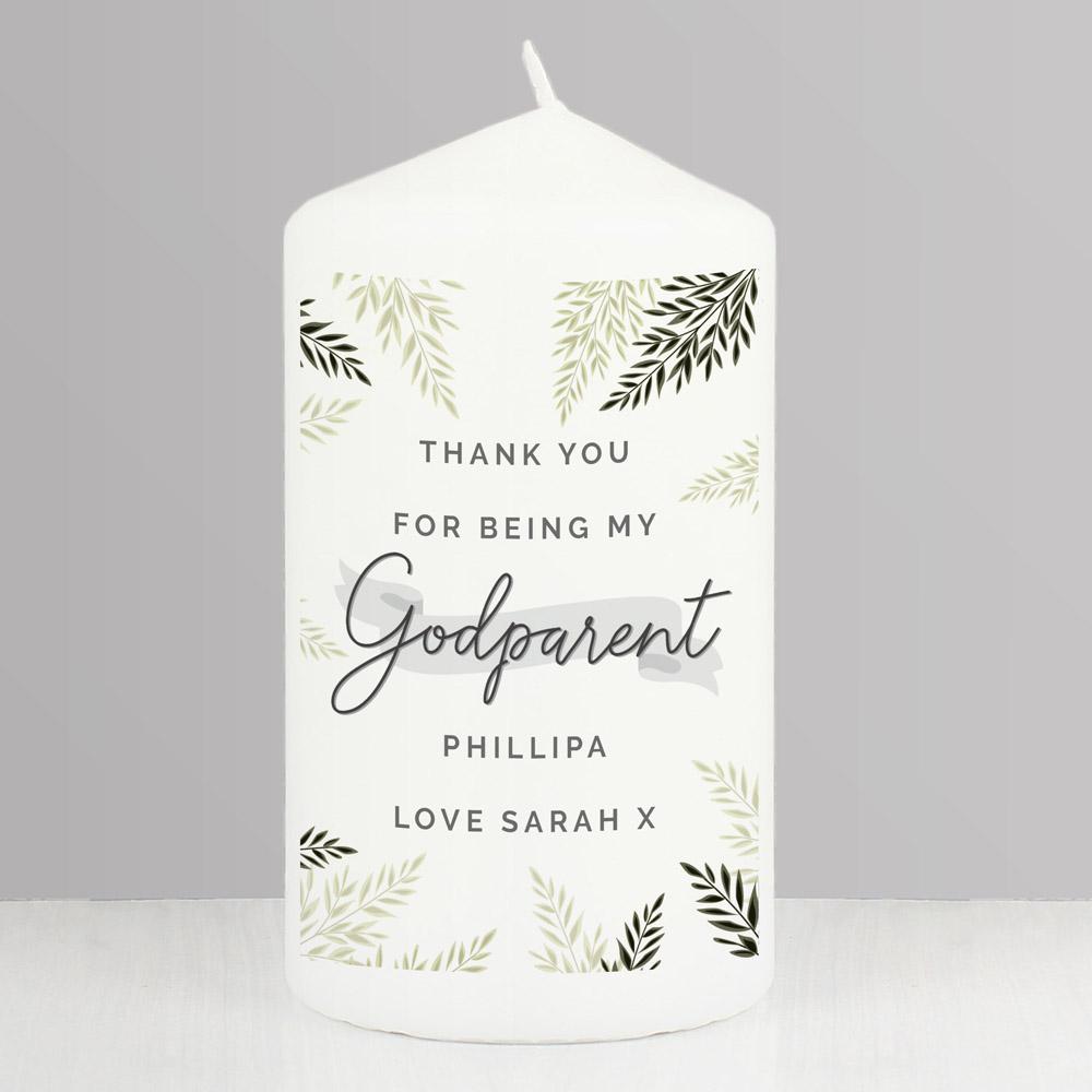 Godparent Pillar Candle