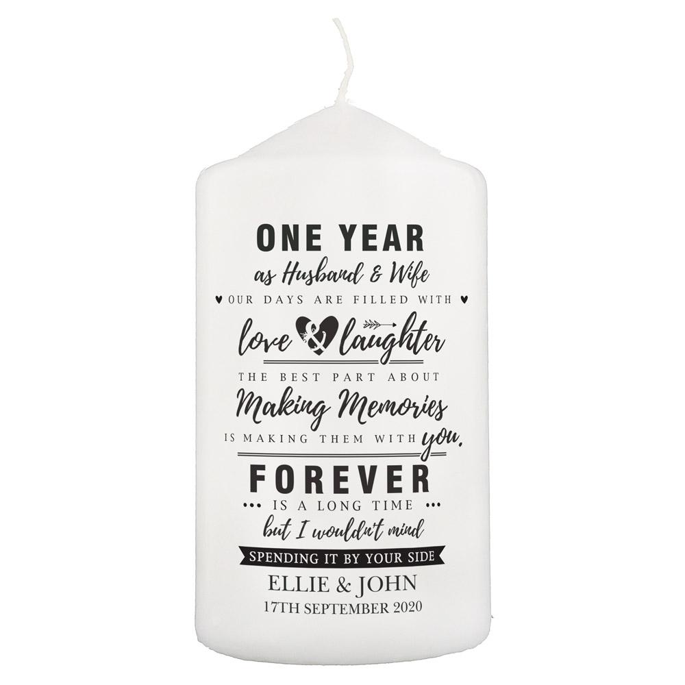 Anniversary Pillar Candle