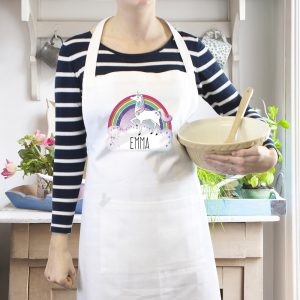 Unicorn White Apron
