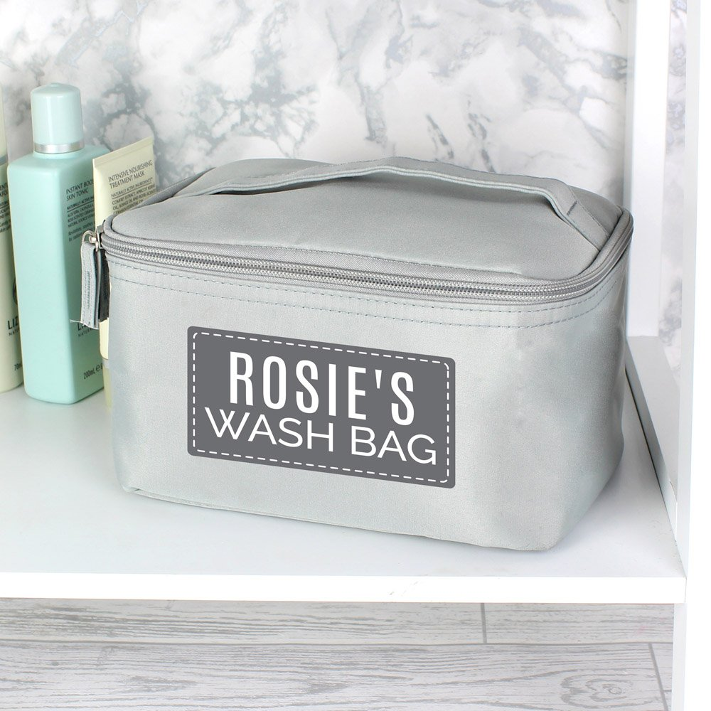 Classic Grey Make Up Wash Bag