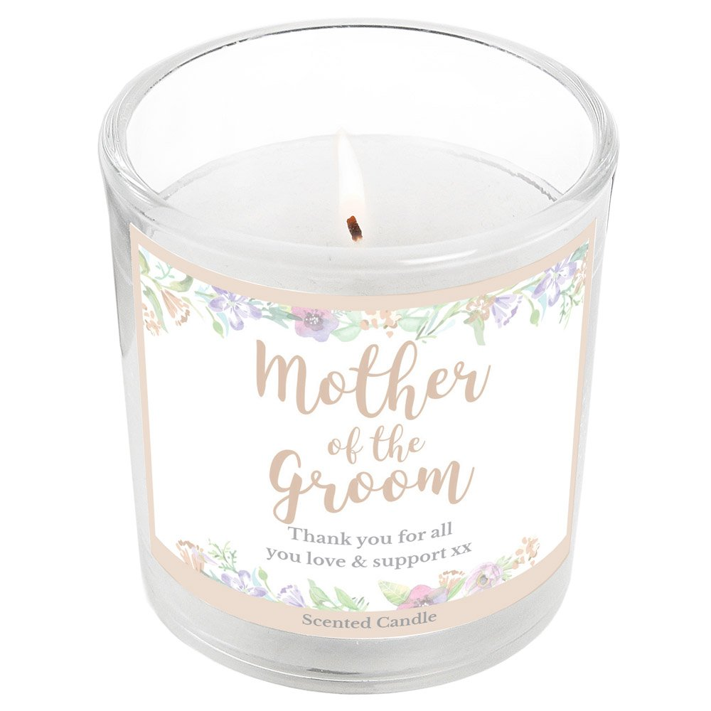 Mother of the Groom 'Floral Watercolour Wedding' Scented Jar Candle