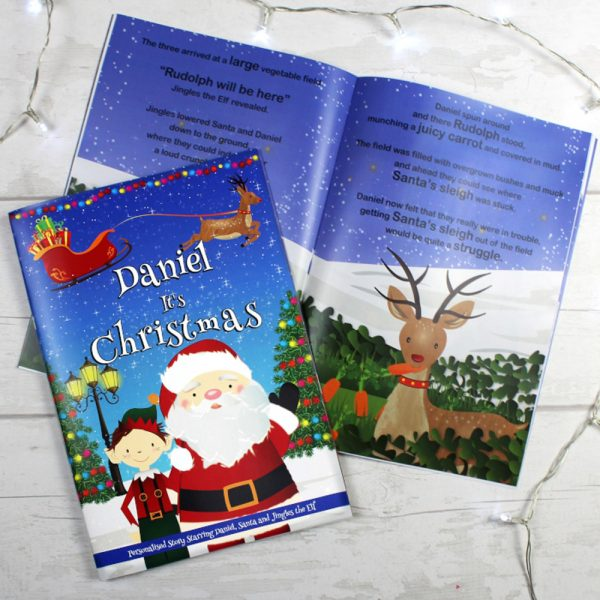 """Boys """"""""It's Christmas"""""""" Story Book, Featuring Santa and his Elf Jingles"""