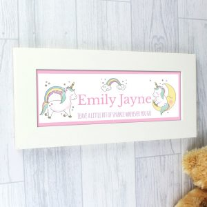 Baby Unicorn Name Frame