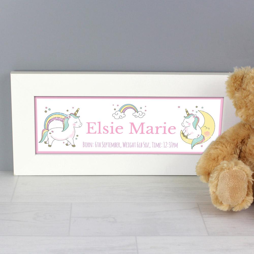 Baby Unicorn Name Frame