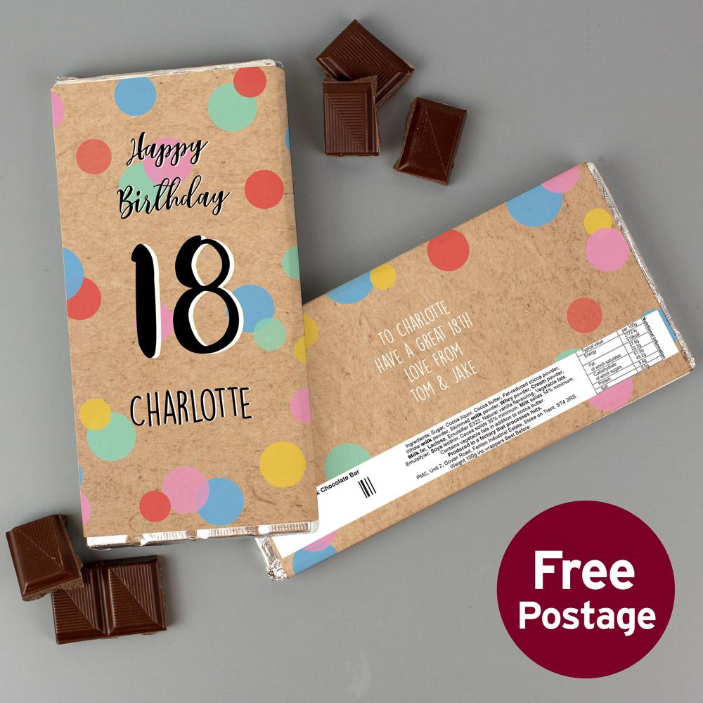 Birthday Colour Confetti Milk Chocolate Bar