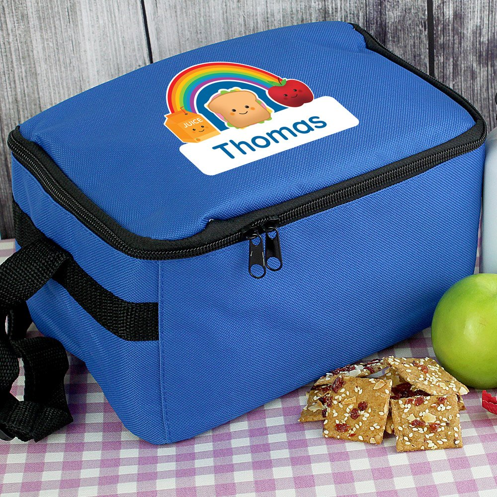 Healthy Eating Blue Lunch Bag