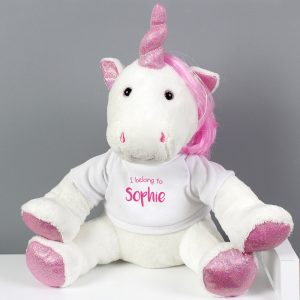 I Belong To' Plush Unicorn