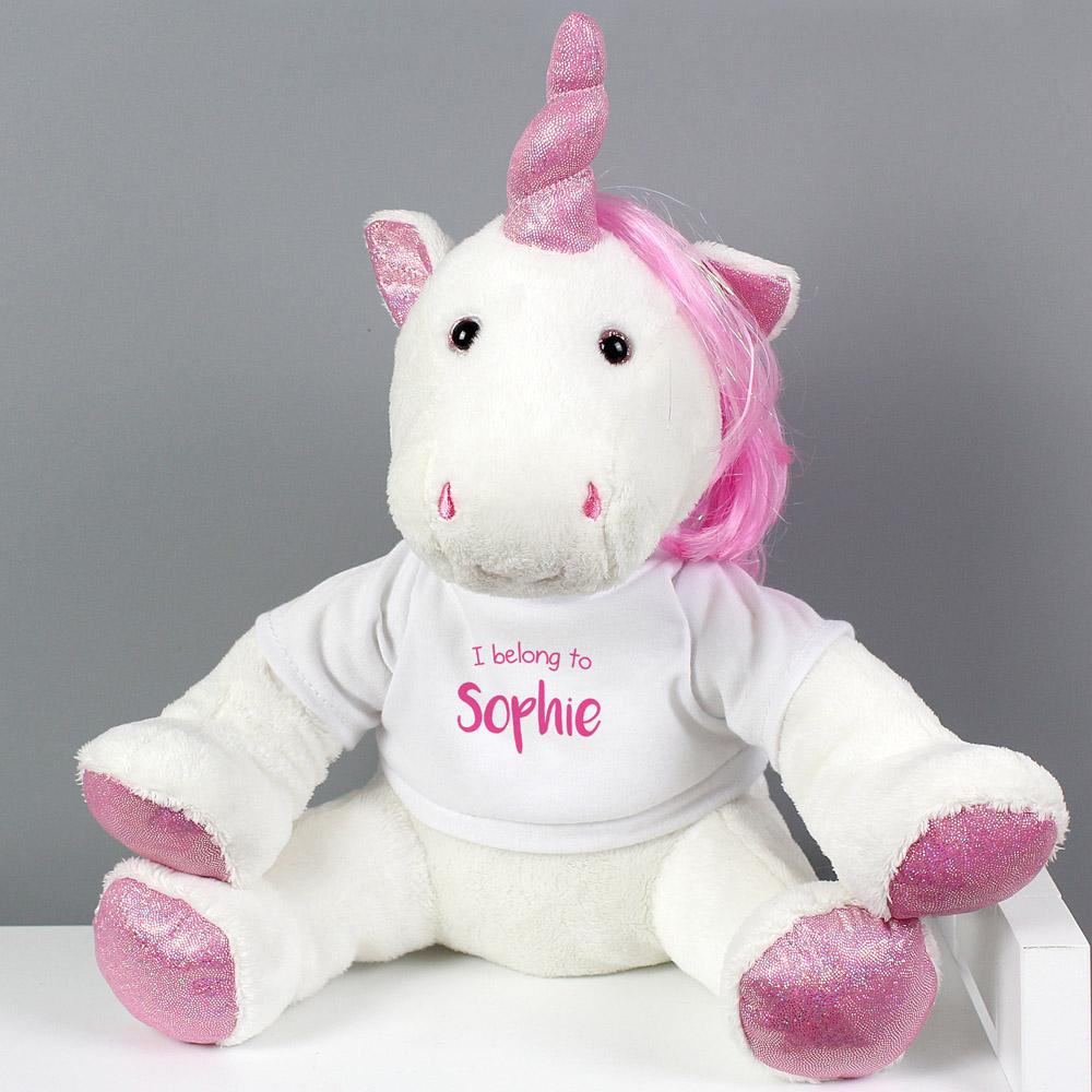 I Belong To' Plush Unicorn
