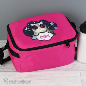 Rachael Hale Space Cat Pink Lunch Bag