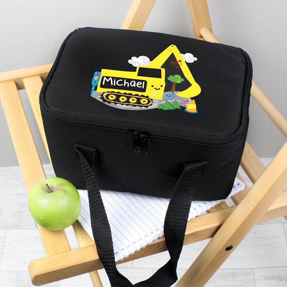 Digger Black Lunch Bag