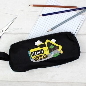 Digger Black Pencil Case