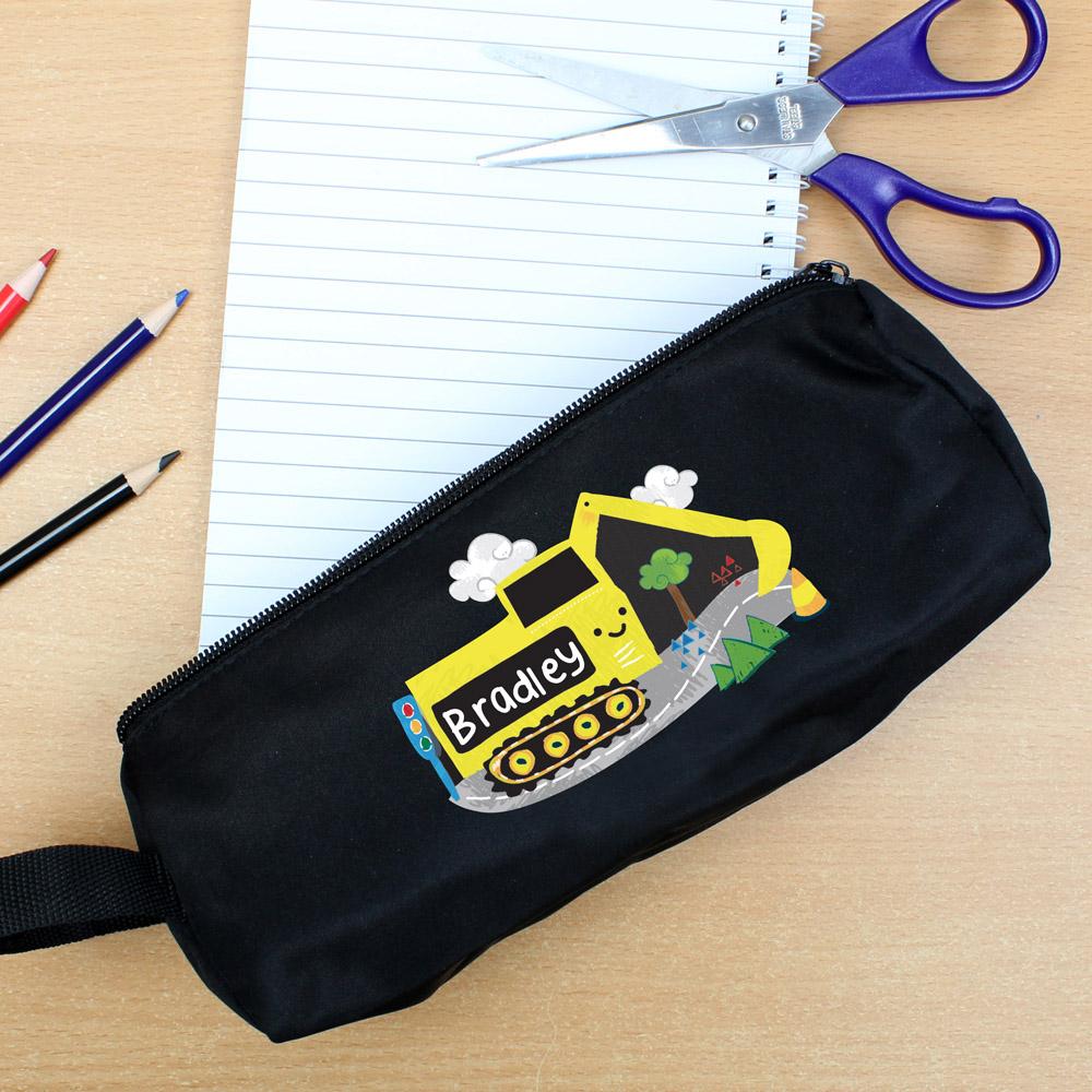 Digger Black Pencil Case