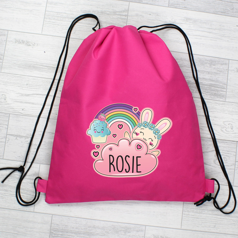 Cute Bunny Pink Swim & Kit Bag