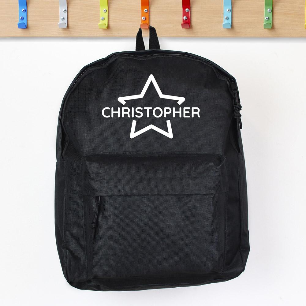 Star Black Backpack