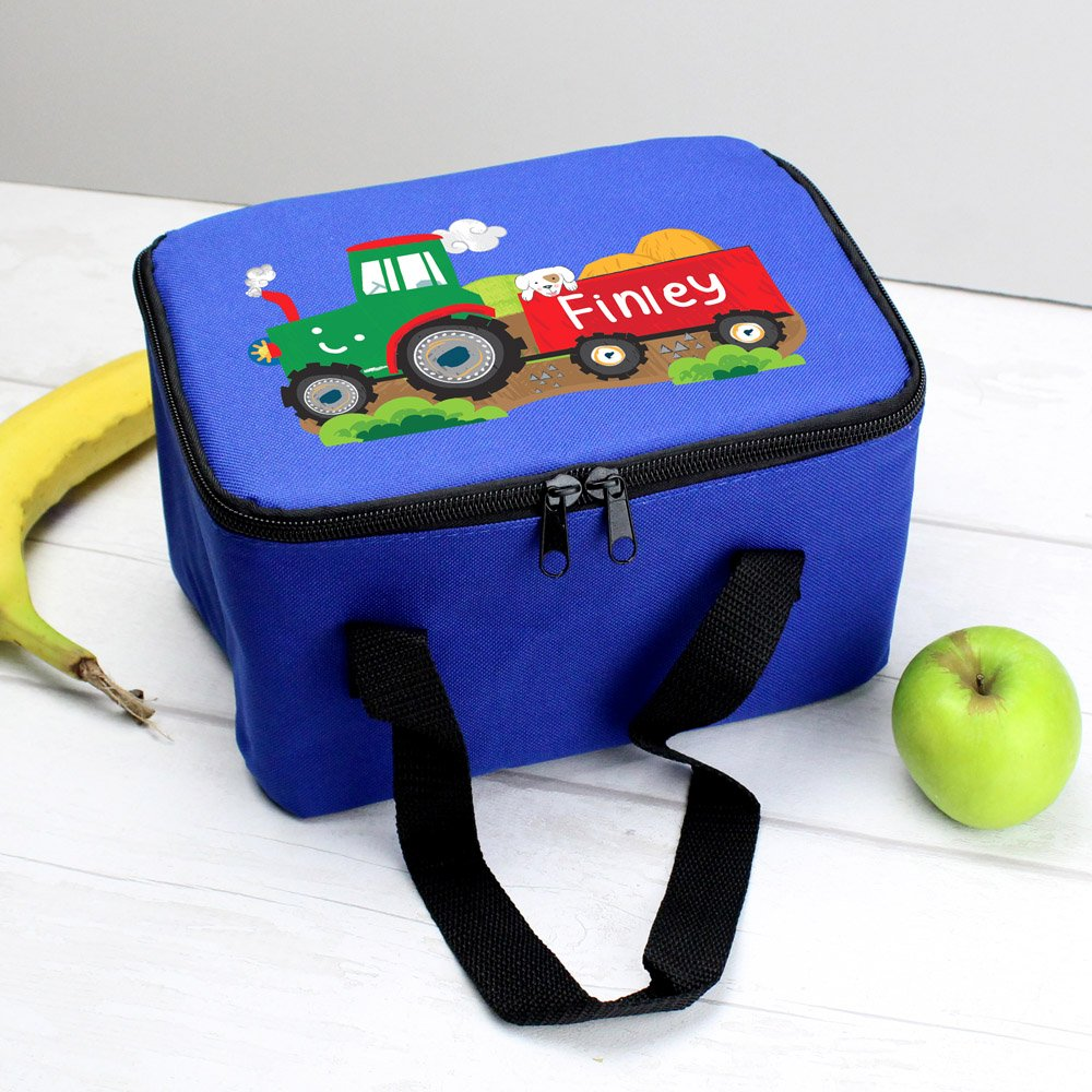 Tractor Blue Lunch Bag