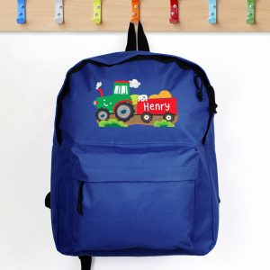 Tractor Blue Backpack