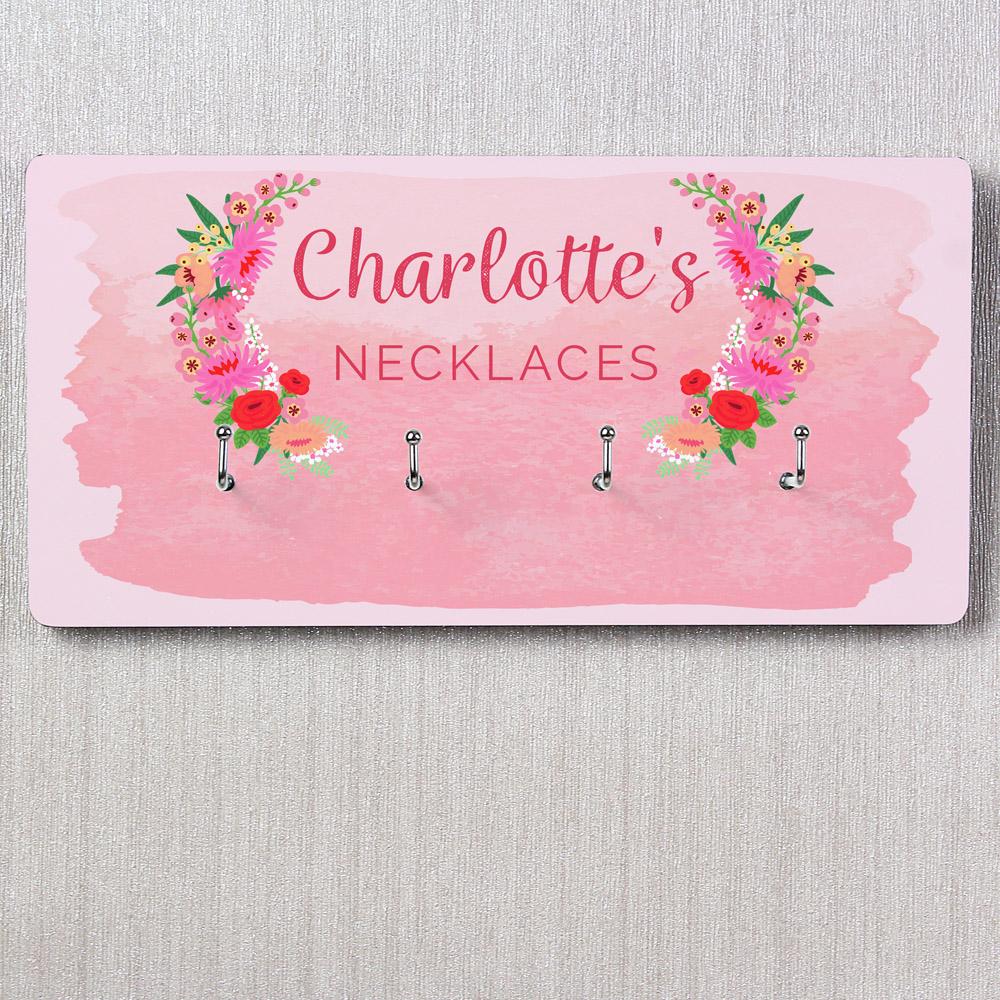 Floral Watercolour Jewellery Hooks