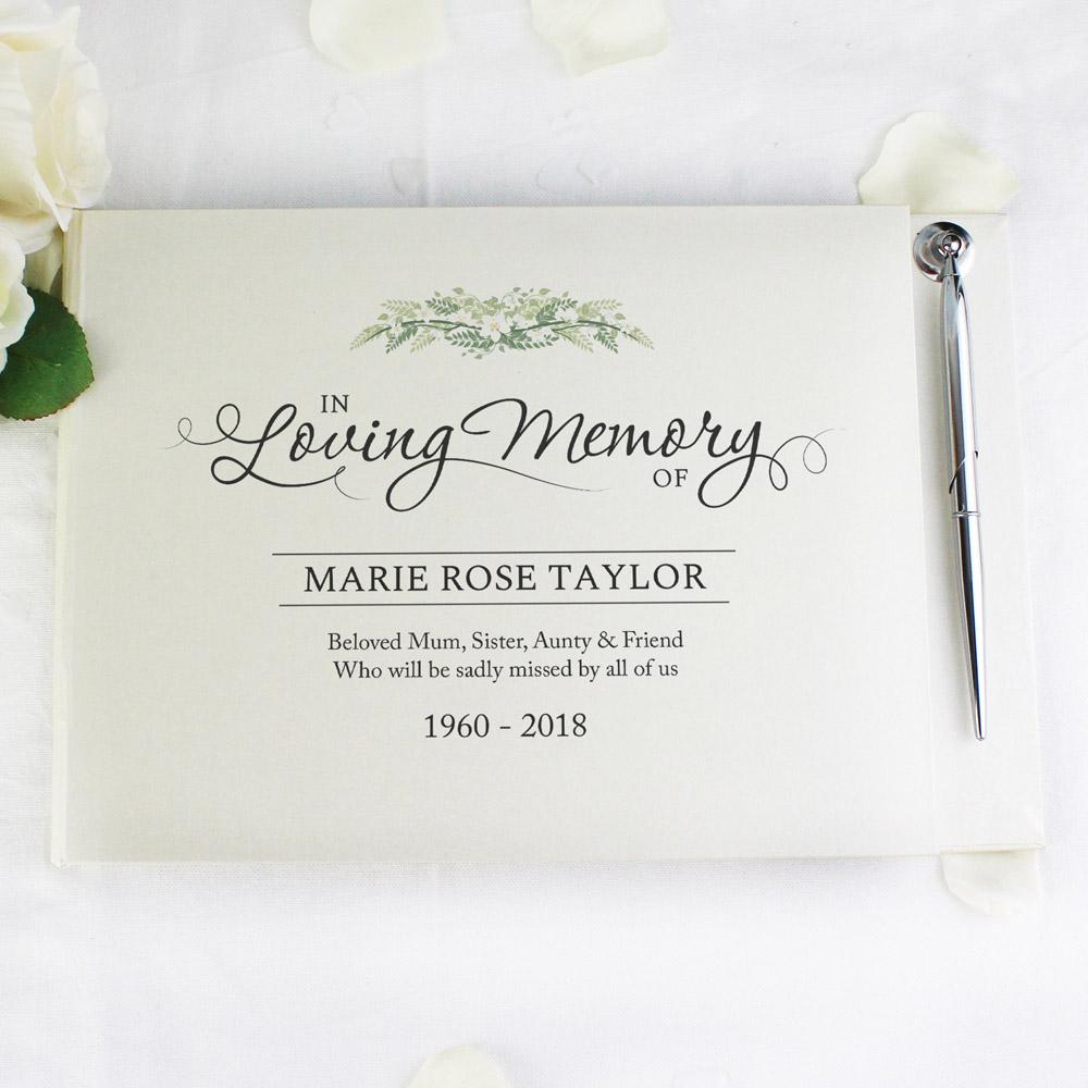 In Loving Memory Hardback Guest Book & Pen