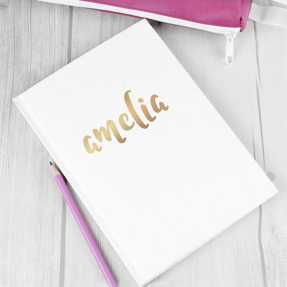 Gold Name Hardback A5 Notebook