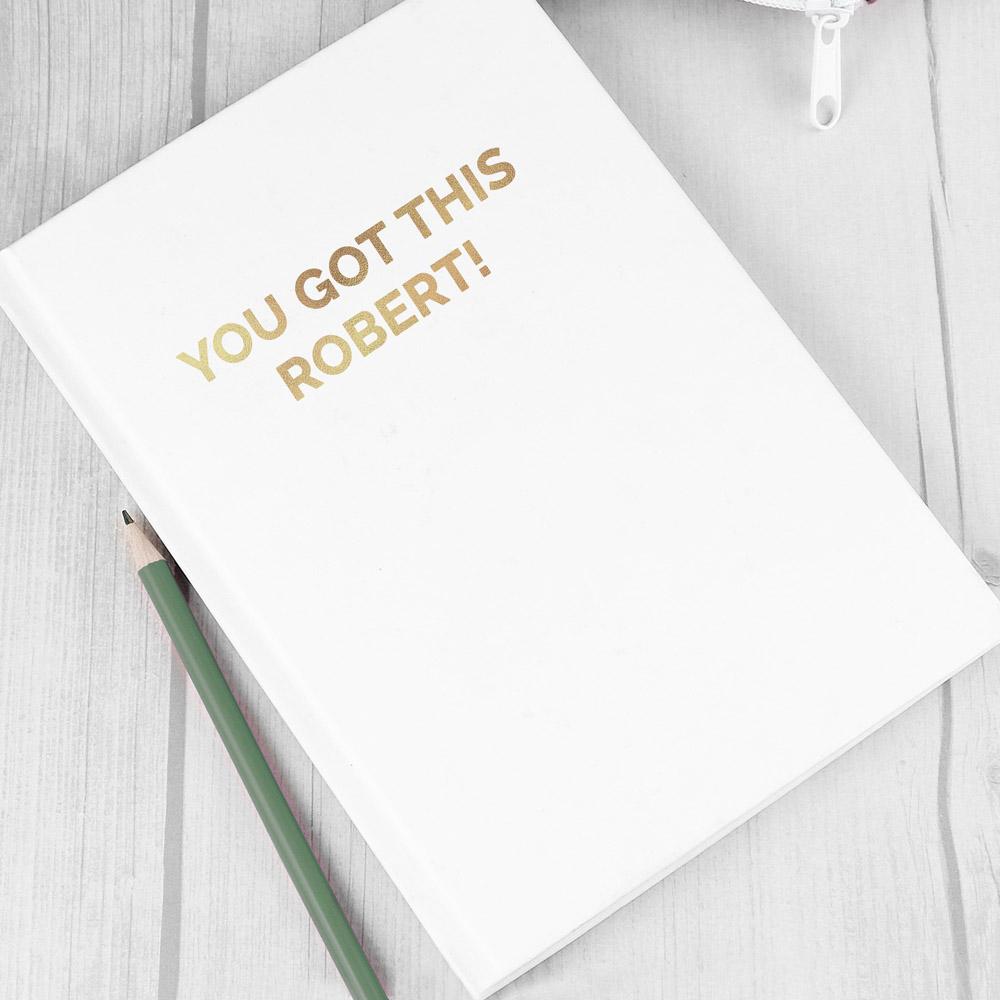 Gold Message Hardback A5 Notebook