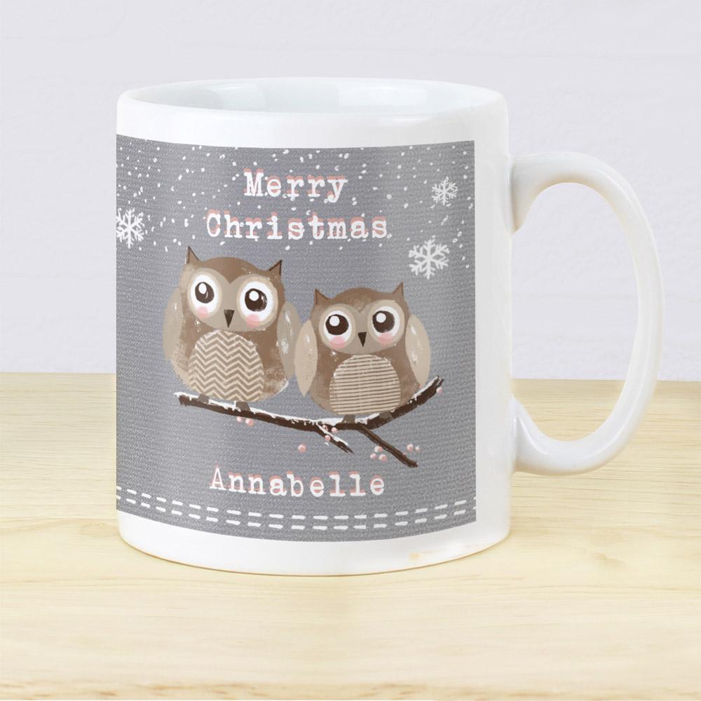 Woodland Owl Christmas Mug