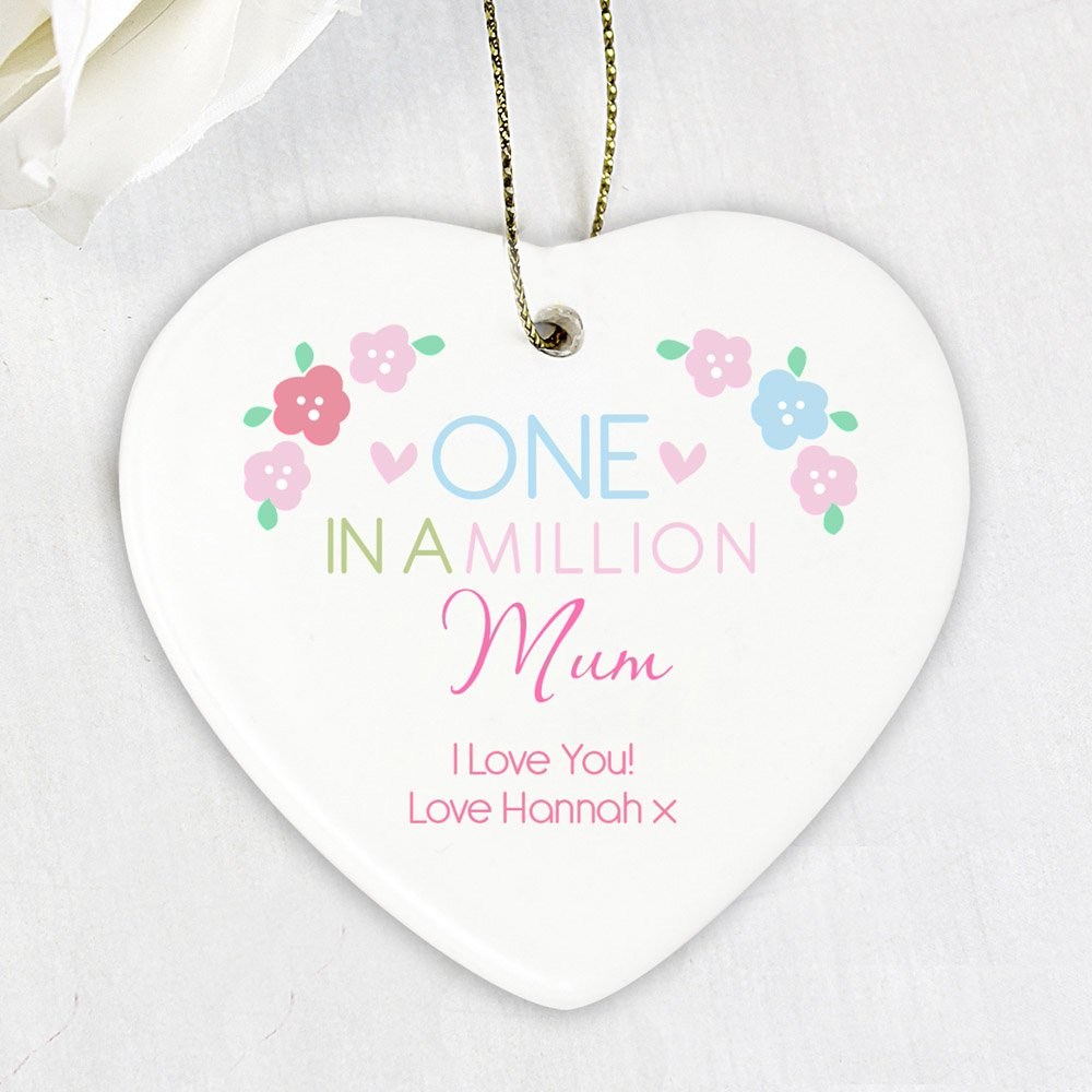 One in a Million Ceramic Heart Decoration