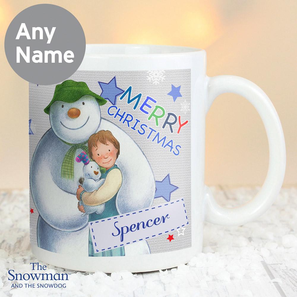 The Snowman and the Snowdog Blue Mug