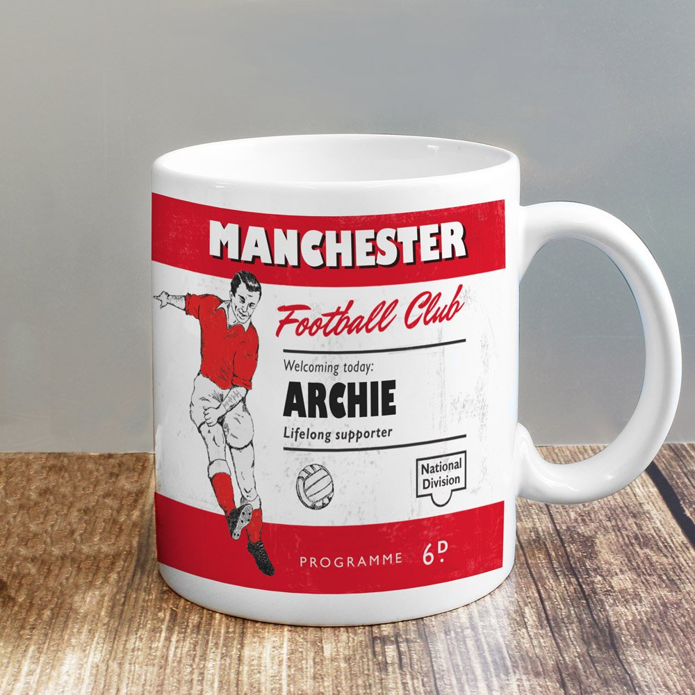 Vintage Football Red and White Supporter's Mug
