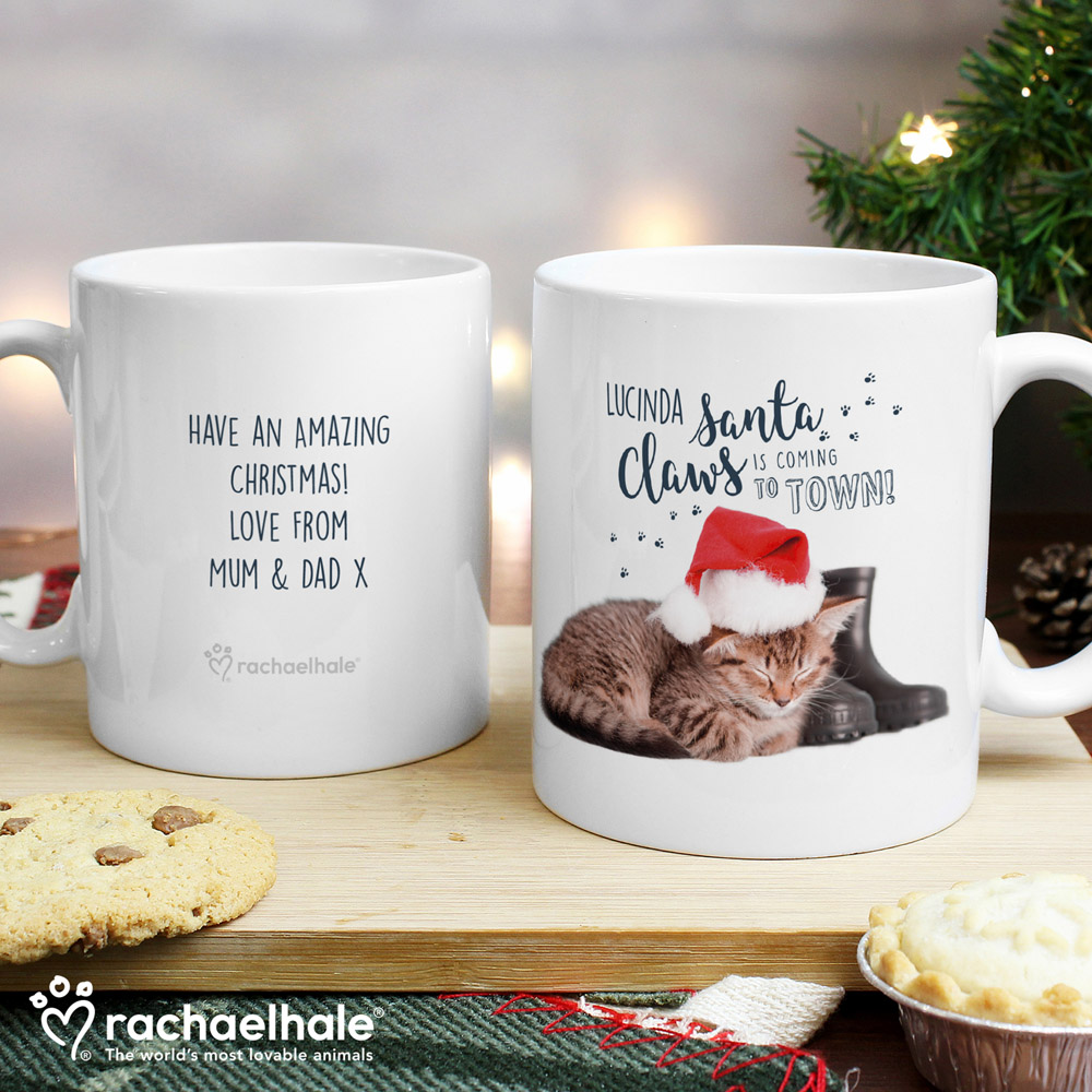 Rachael Hale Santa Claws Christmas Cat Mug