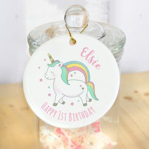 Baby Unicorn Round Decoration