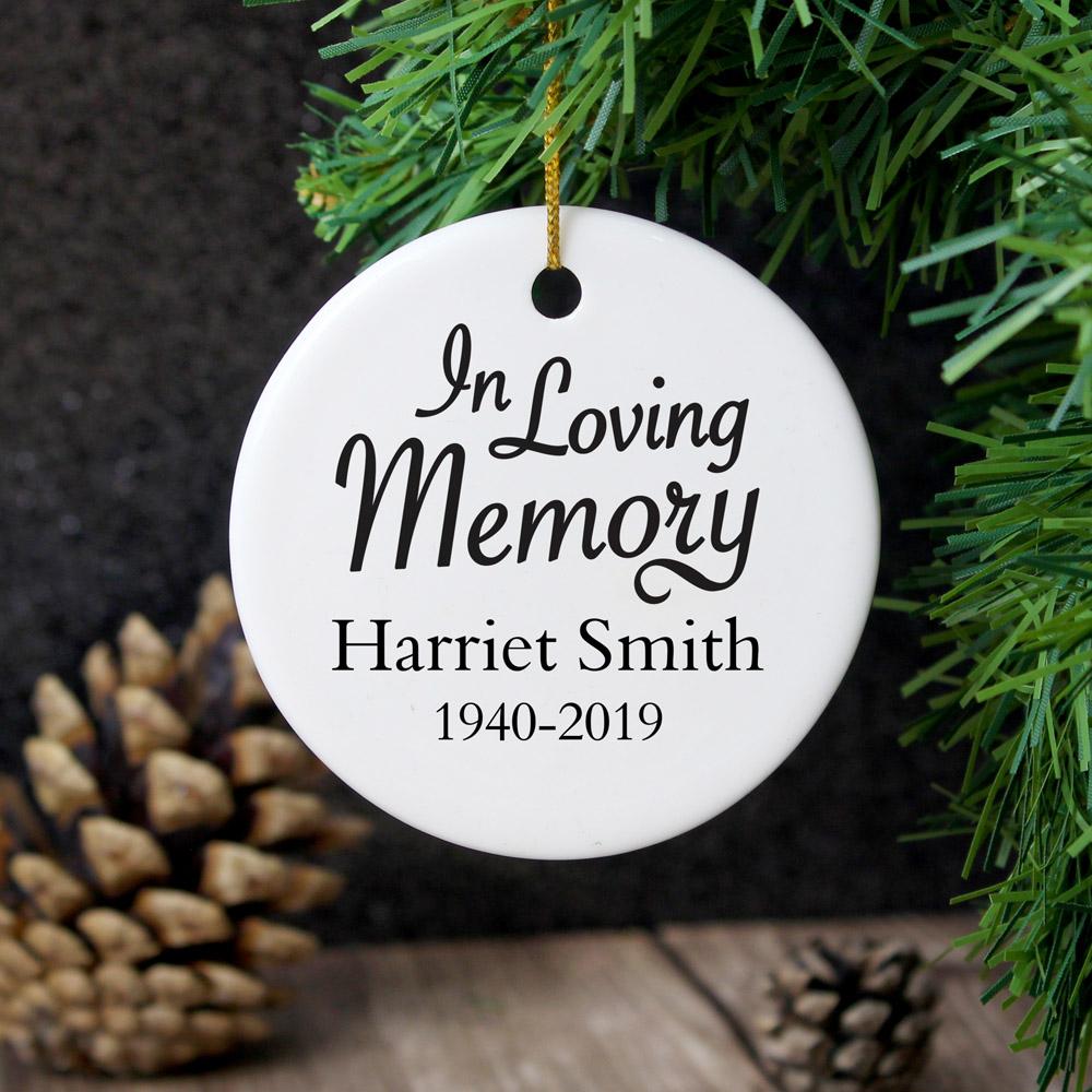 In Loving Memory Round Ceramic Decoration