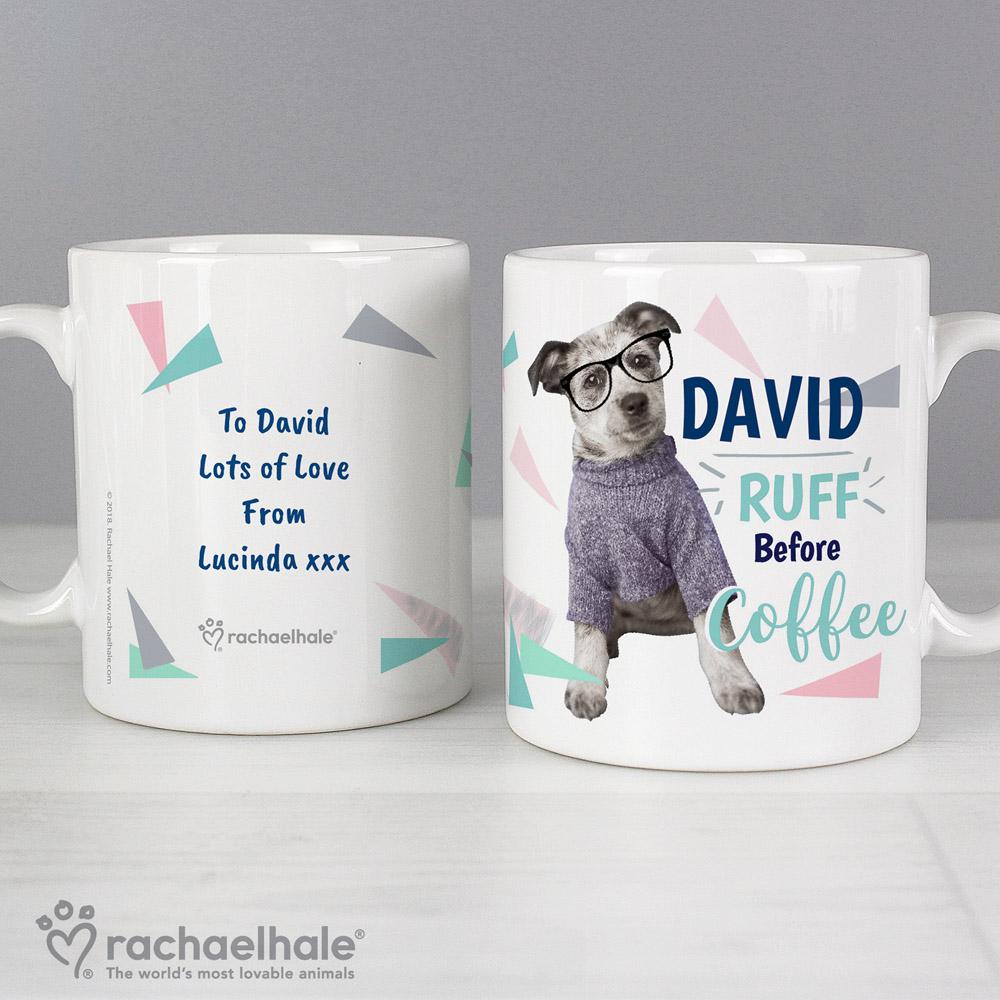 Rachael Hale 'Ruff Before Coffee' Dog Mug