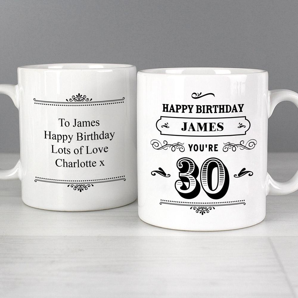 Birthday Vintage Typography Mug